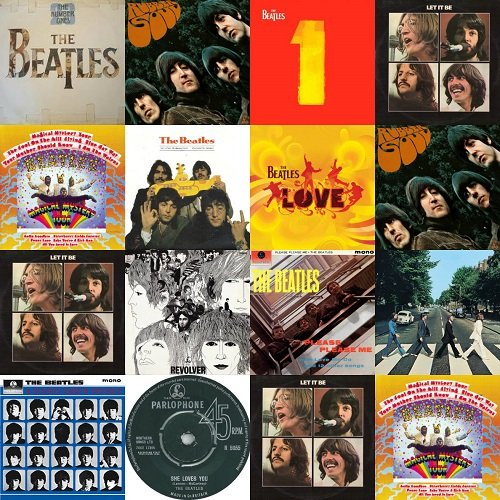 Постер к The Beatles - 100 Remastered Greatest Hits (2012)