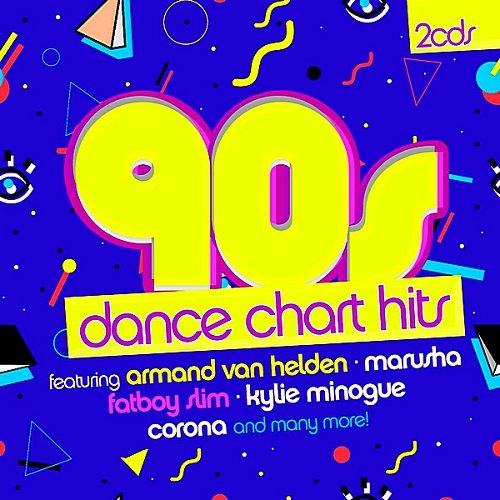 Постер к 90s Dance Chart Hits. 2CD (2018)