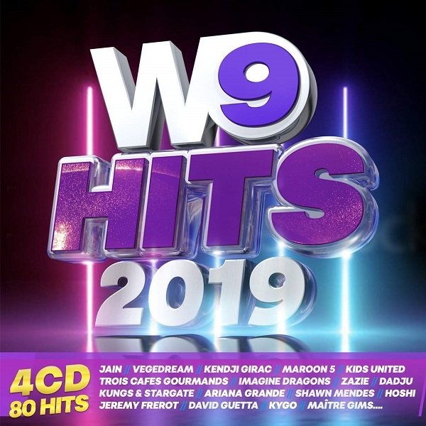 Постер к W9 Hits 2019. 4CD (2018)
