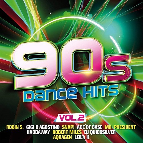 Постер к 90s Dance Hits Vol.2. 2CD (2018)