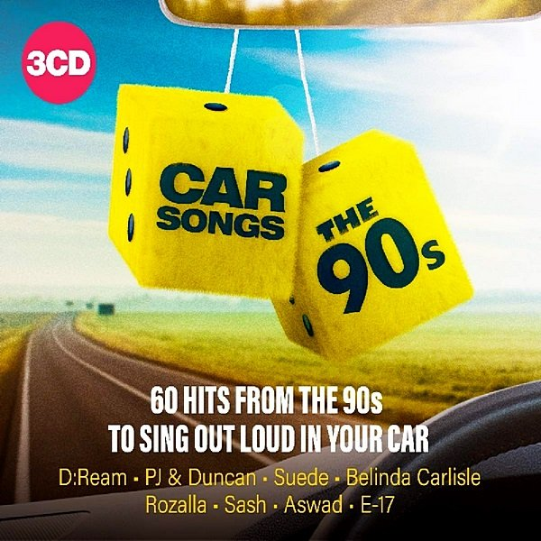 Постер к Car Songs: The 90s. 3CD (2019)