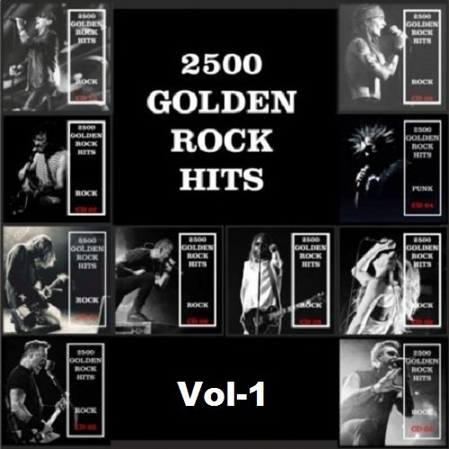 Постер к 2500 Golden Rock Hits. Vol-1 (2019)